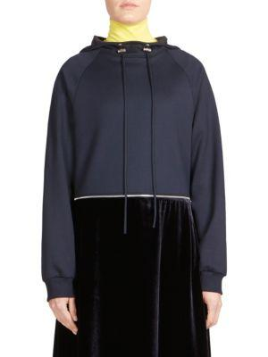 Cedric Charlier Hooded Sweatshirt Dress