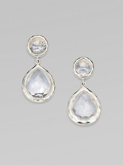 Ippolita Clear Quartz Snowman Drop Earrings