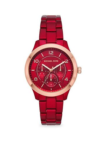 Michael Kors Runway Chronograph Coated Stainless Steel Watch