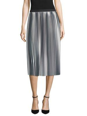 Eileen Fisher Ombre Pleated Skirt