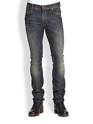 Nudie Jeans Thin Finn Slim Straight-leg Jeans