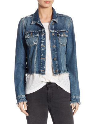 Paige Villa Lace-up Denim Jacket