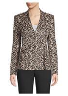 Rebecca Taylor Velvet Leopard Blazer
