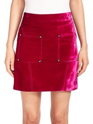 Opening Ceremony Embossed Velvet Skirt