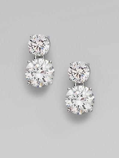 Adriana Orsini Double Stud Drop Earrings