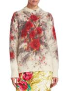 Prada Floral Mohair Sweater