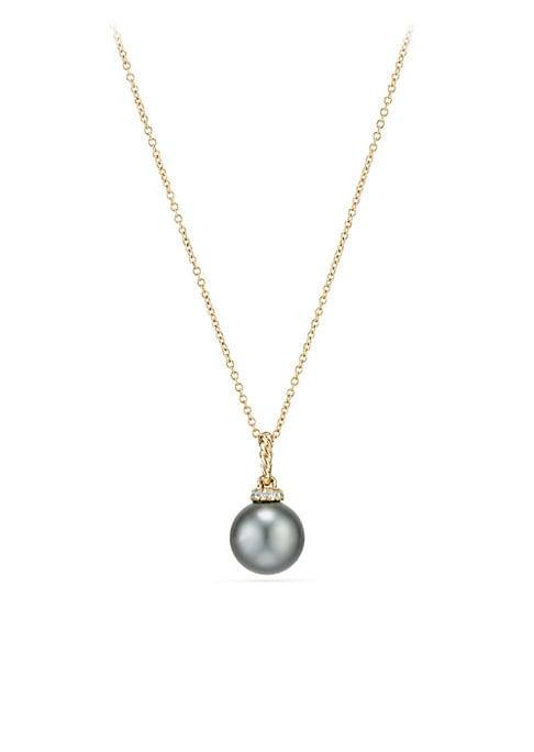 David Yurman Solari Diamond, Moonstone And 18k Gold Pendant Necklace