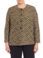 Stizzoli, Plus Size Knit Roundneck Cardigan
