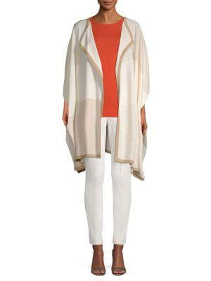 St. John Texture Colorblock Wool Knit Cardigan