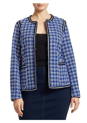 Marina Rinaldi, Plus Size Marina Sport Calamaio Tweed Jacket