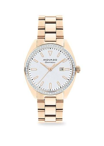 Movado Heritage Series Datron Diamond & Goldplated Stainless Steel Bracelet Watch