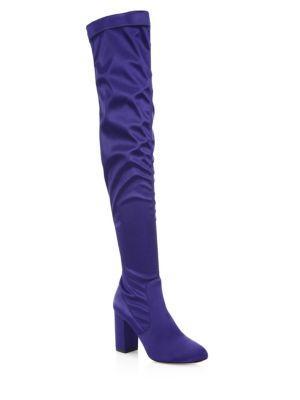Aquazzura Party Over-the-knee Satin Boots