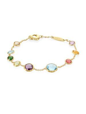 Marco Bicego 18k Yellow Gold & Multicolored Gemstone Jaipur Bracelet