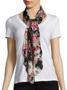 Rag & Bone Kimono Floral Cotton & Silk Scarf