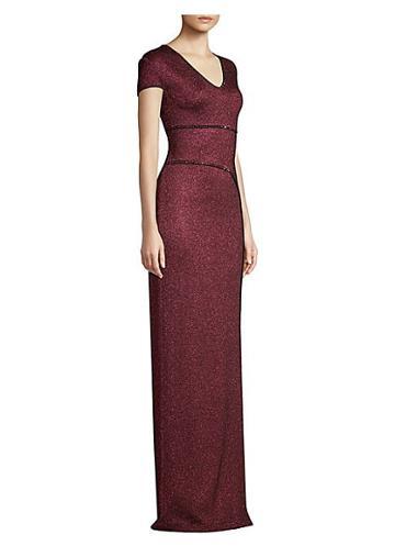 St. John Mod Metallic Knit Gown