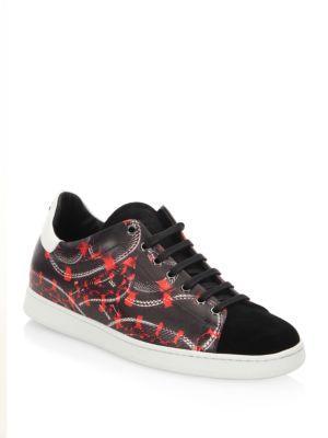 Marcelo Burlon Isabel Snake Printed Leather Sneakers