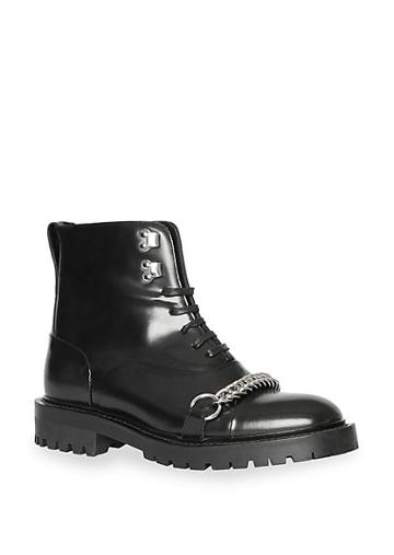 Burberry Barke Leather Combat Boot