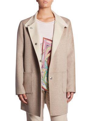 Basler, Plus Size Regular-fit Reversible Double Face Jacket