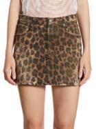 R13 Leopard-print Mini Skirt