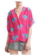 Maje Floral Print Shirt