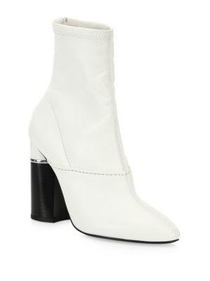 3.1 Phillip Lim Two-tone Block Heel Leather Booties