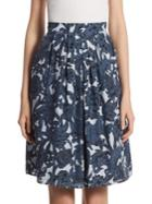 Burberry Dove Floral-print Skirt