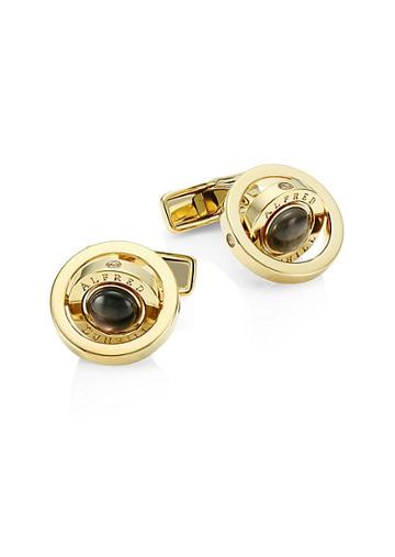 Dunhill Gyro Goldplated Black Mother-of-pearl Cufflinks