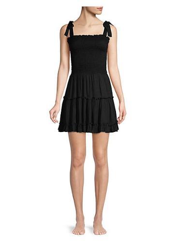 Coolchange Raegan Smocked Bodice Tiered Ruffled A-line Dress