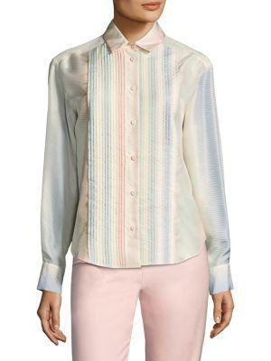 Piazza Sempione Silk Herringbone Shirt