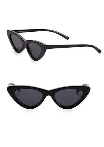 Le Specs Luxe Adam Selman X Le Specs Luxe The Last Lolita Black Sunglasses