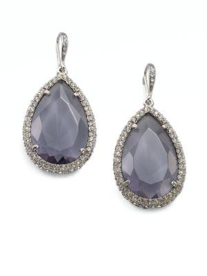 Abs By Allen Schwartz Jewelry Faceted Teardrop Earrings