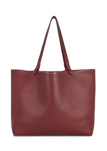 The Row Lux Grained Leather Shopper Tote