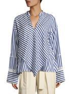 Derek Lam Silk Lace Handkerchief Blouse