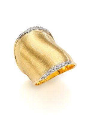 Marco Bicego Lunaria Diamond & 18k Yellow Gold Ring