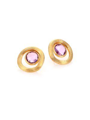 Marco Bicego Jaipur Color Amethyst & 18k Yellow Gold Stud Earrings