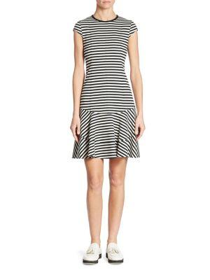 Akris Punto Striped Cotton Jersey Dress