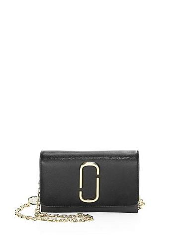 Marc Jacobs Coated Leather Chain Wallet