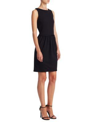 Emporio Armani Grosgrain Pleat Dress
