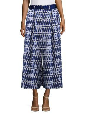 Issey Miyake Cropped Patterned Pants