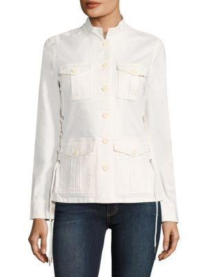 Tory Burch Sargeant Pepper Lace-up Army Jacket