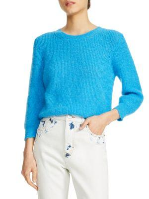 Maje Crop Knit Sweater