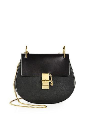 Chloe Combo Leather Flap Shoulder Bag