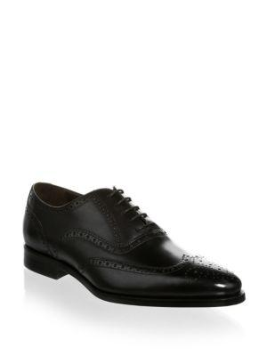 To Boot New York Amber Leather Wingtip Oxfords