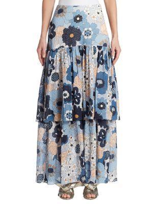 Chloe Floral Layered Skirt