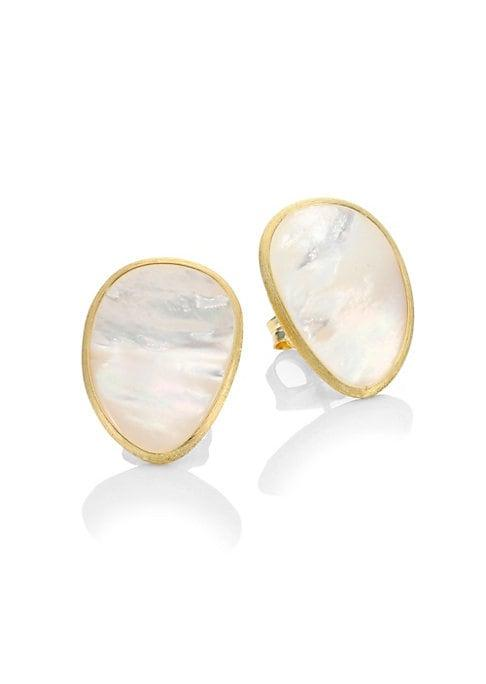 Marco Bicego Lunaria White Mother-of-pearl Stud Earrings