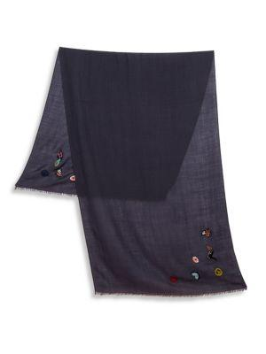 Paul Smith Embroidered Motif Scarf