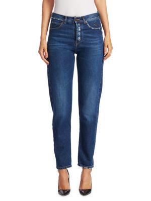 Saint Laurent Embellished Denim Jeans