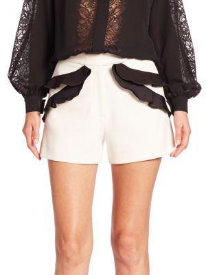 Elie Saab Ruffled Shorts