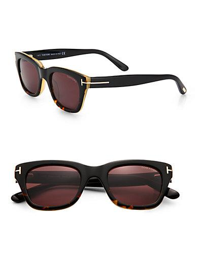 Tom Ford Eyewear Snowdon Square Plastic Sunglasses