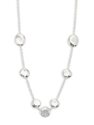 Ippolita 925 Onda Diamond 7-station Necklace
